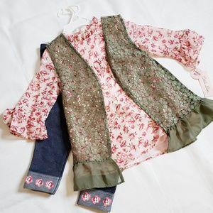 New Little Lass 3-piece Floral Outfit